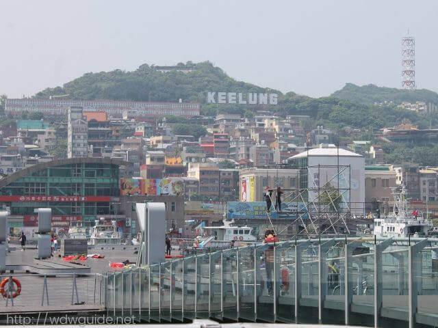 ウエステルダムから見た台湾・基隆