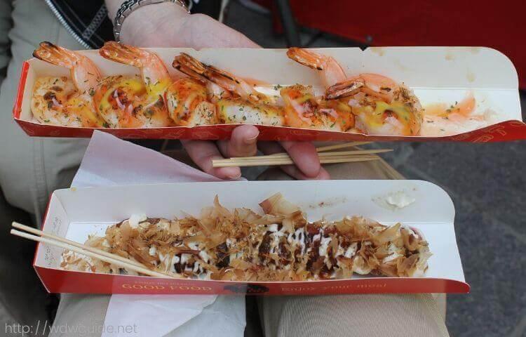 韓国・釜山の屋台の串料理