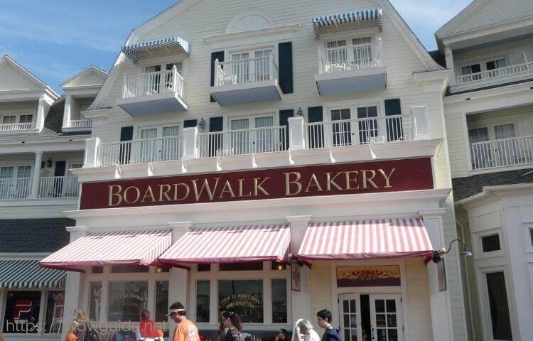 ウォルトディズニーワールドのボードウォークのパン屋
