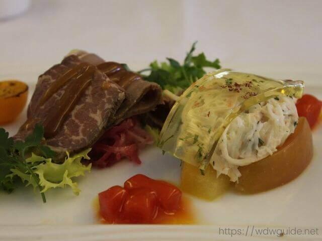 ANAビジネスクラスの洋食の前菜