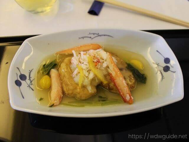 ANAビジネスクラスの和食の主菜