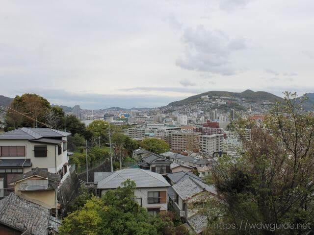 グラバースカイロードの終点から見た長崎市内