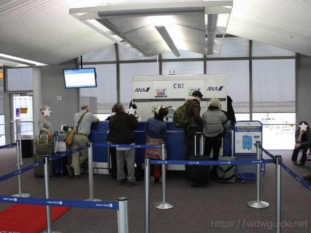 シカゴ空港のANAビジネスカウンター