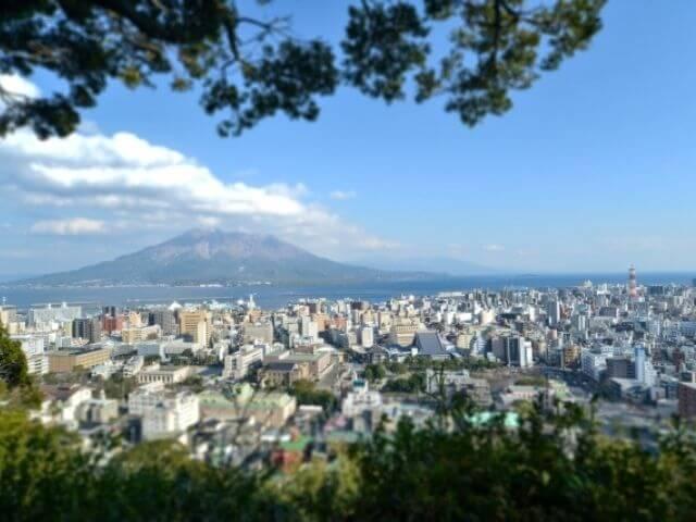 桜島の城山展望台