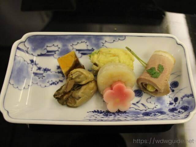 ANAビジネスクラスの和食の前菜