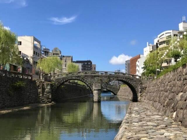 長崎の定番観光名所の眼鏡橋
