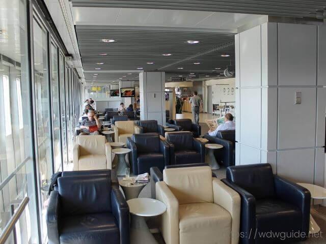 デュッセルドルフ空港のルフトハンザビジネスラウンジ