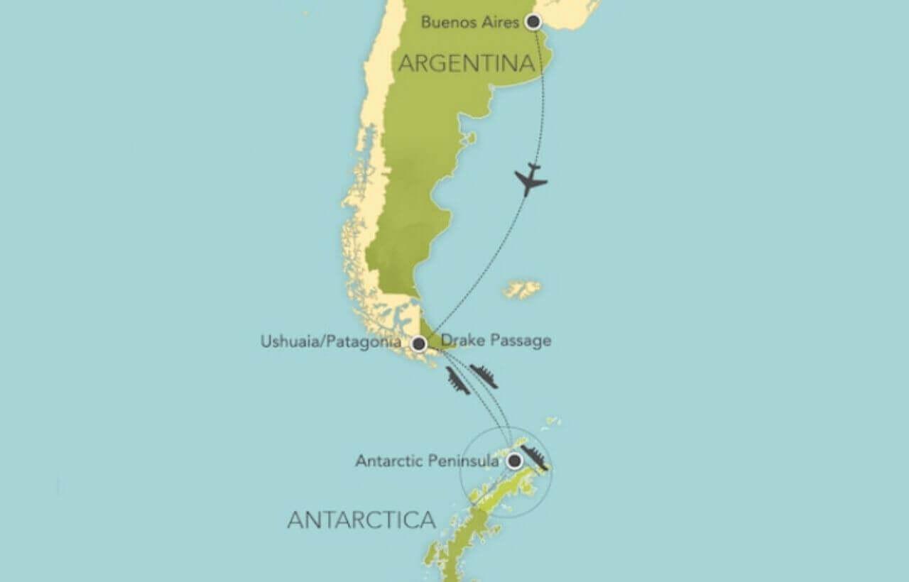 アドベンチャーバイディズニーの南極クルーズ航路