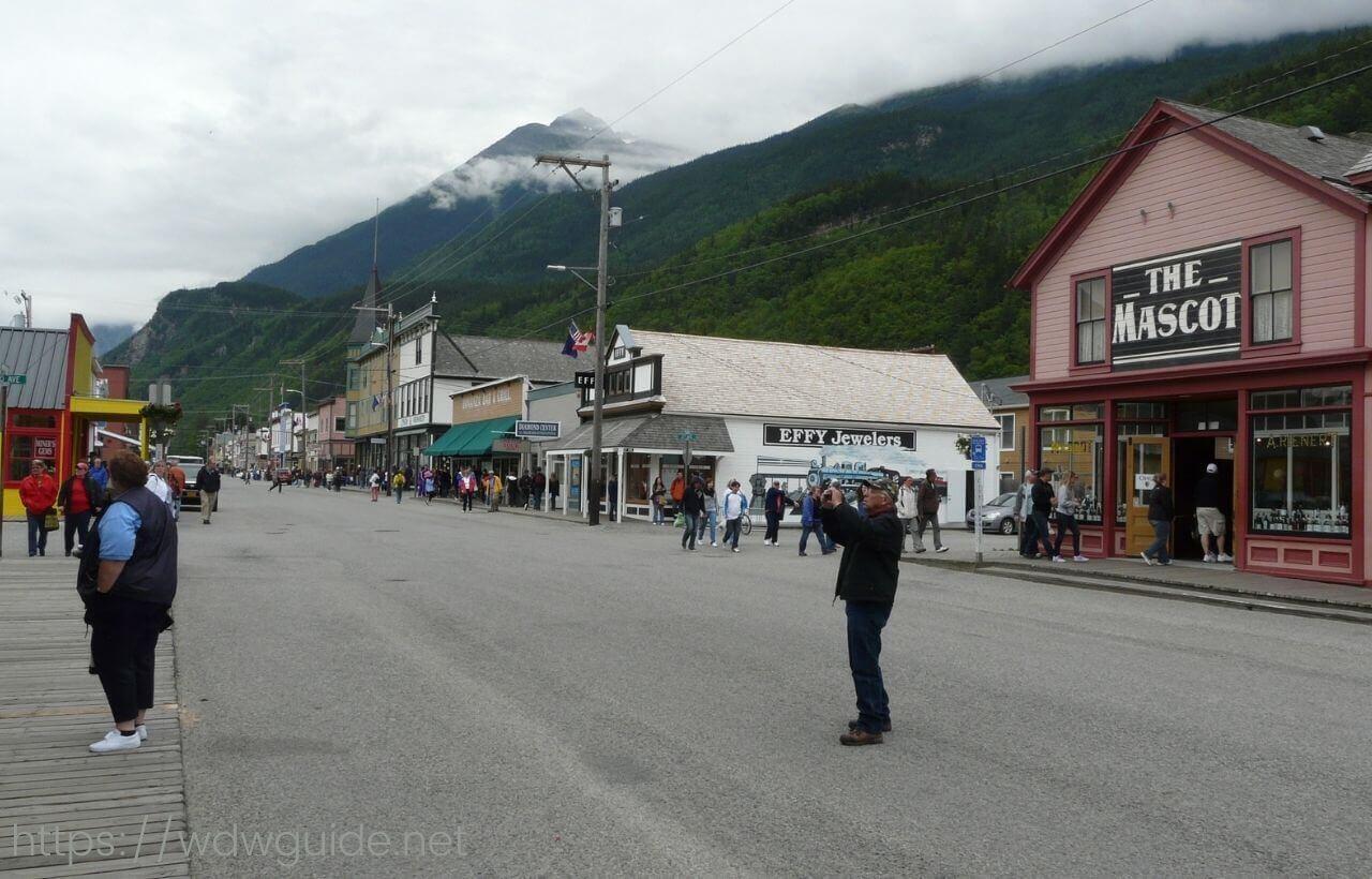 アラスカ・スキャグウェイの町中