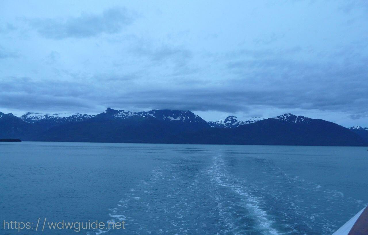 ディズニーワンダーから見たアラスカ・トレーシーアーム
