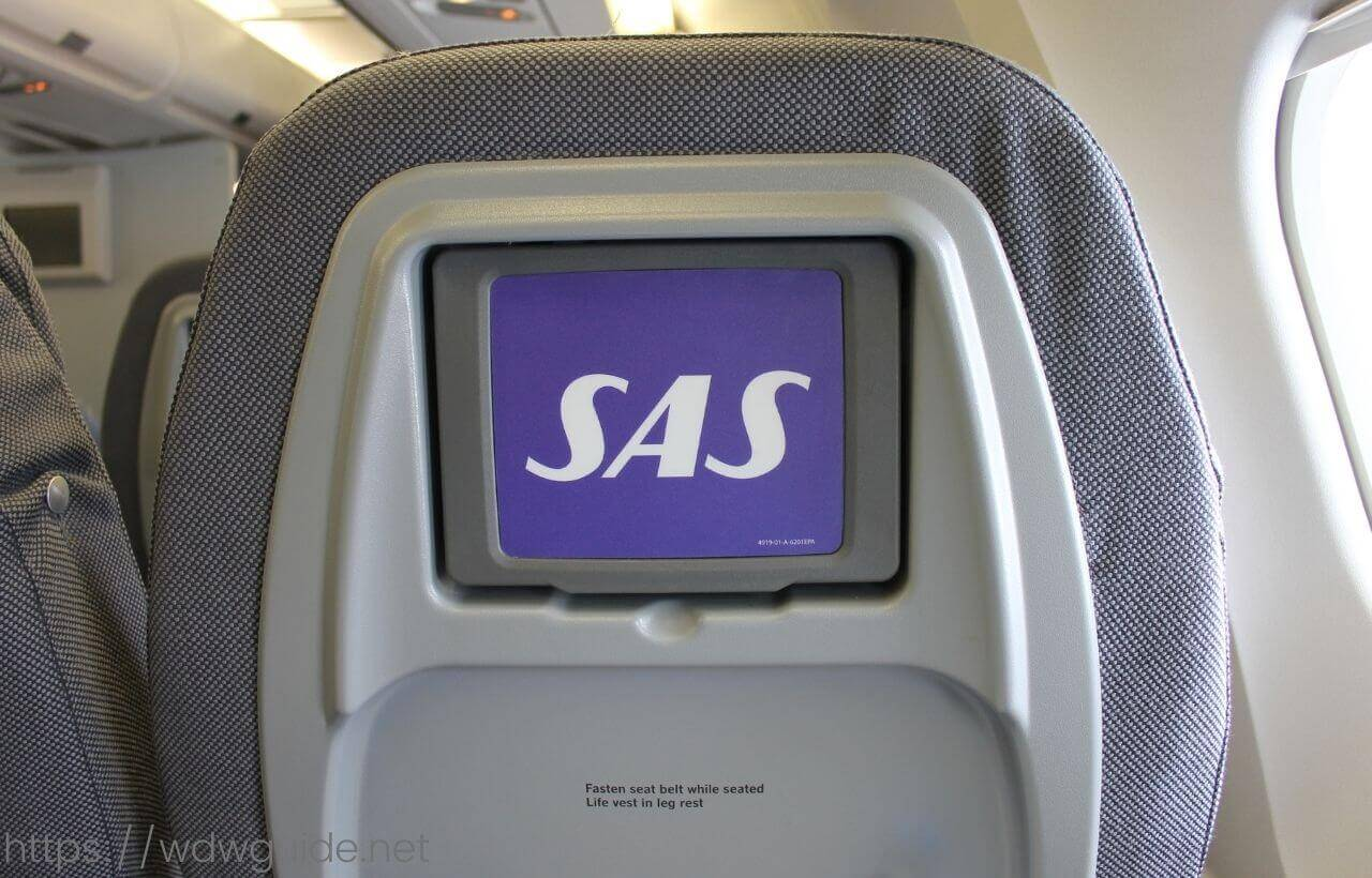 スカンジナビア航空(SAS) プレミアムエコノミーのシートモニター