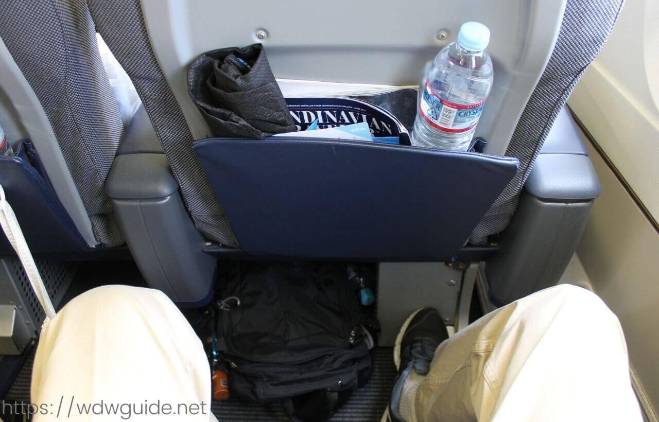 スカンジナビア航空(SAS) プレミアムエコノミーのシート足元