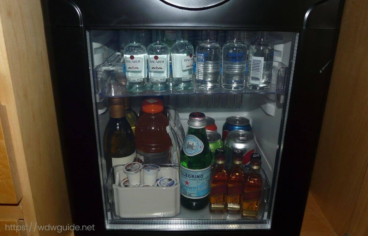パン パシフィック バンクーバーの客室の冷蔵庫