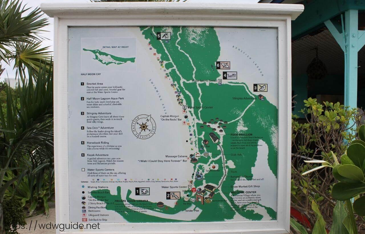 カリブ海のハーフムーンケイの看板