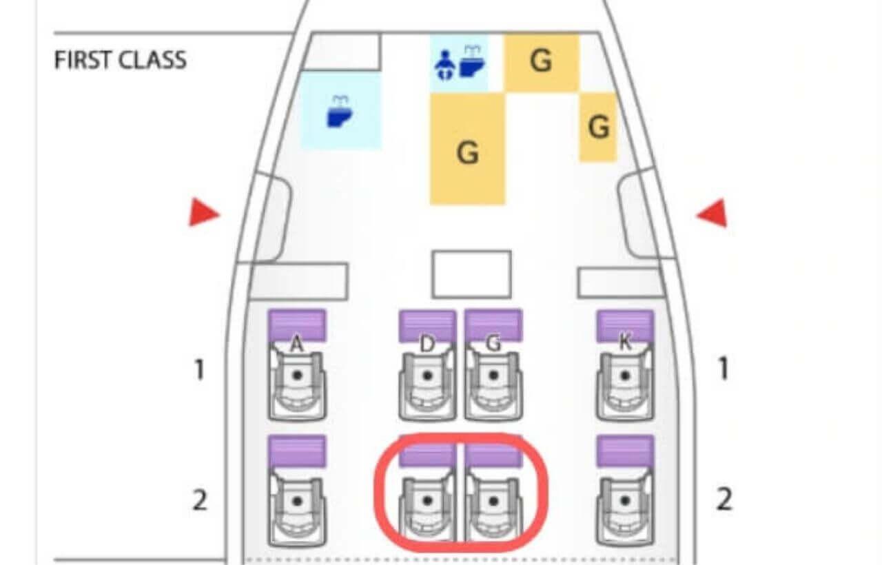 ANA Boeing 777-300ERのファーストクラスのシートマップ