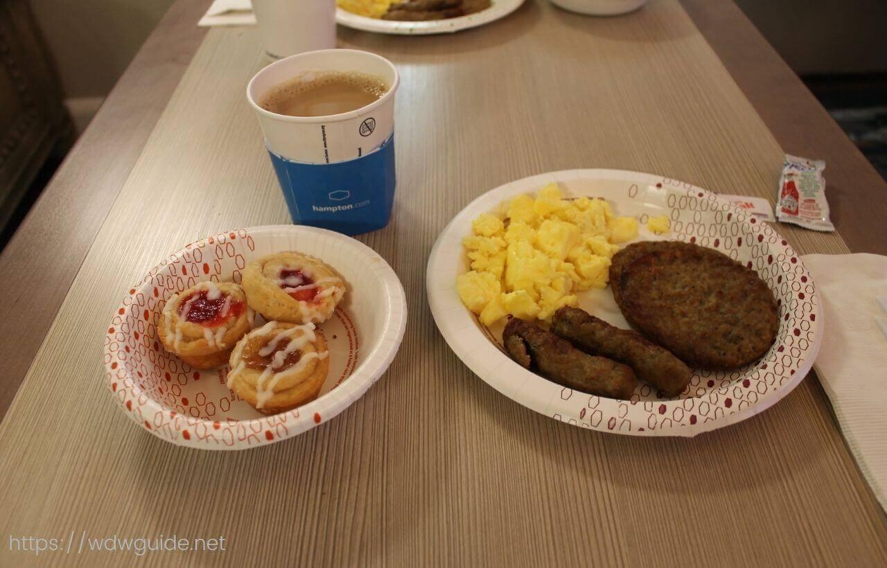 ハンプトン イン・フォートローダーデール エアポート ノース クルーズ ポートの朝食