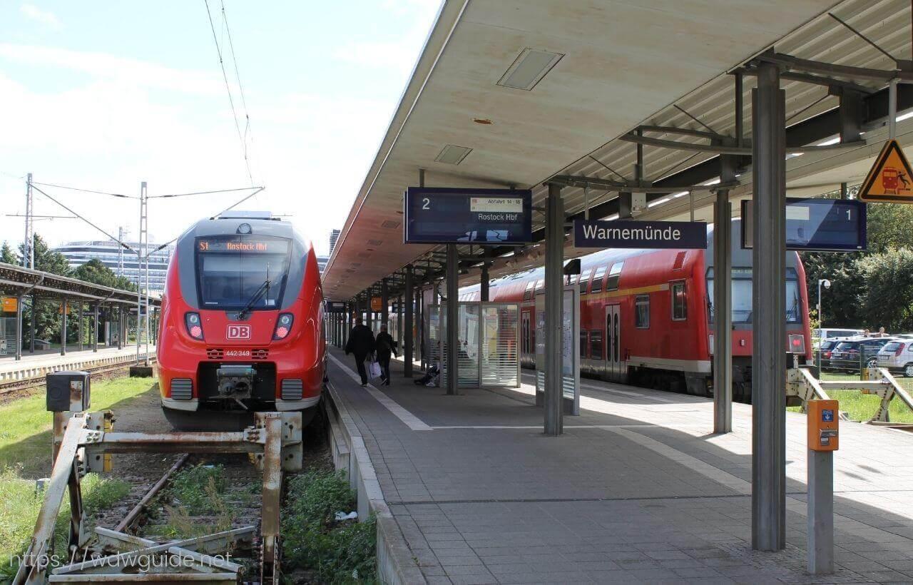 ドイツ・ヴァルネミュンデの駅