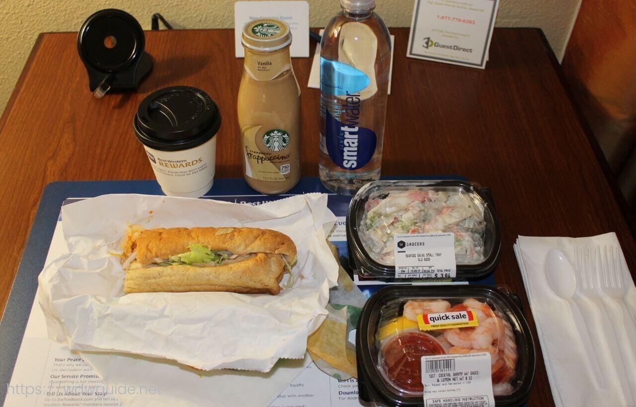ハンプトン イン・フォートローダーデール エアポート ノース クルーズ ポート近くのスーパーで買った夕食
