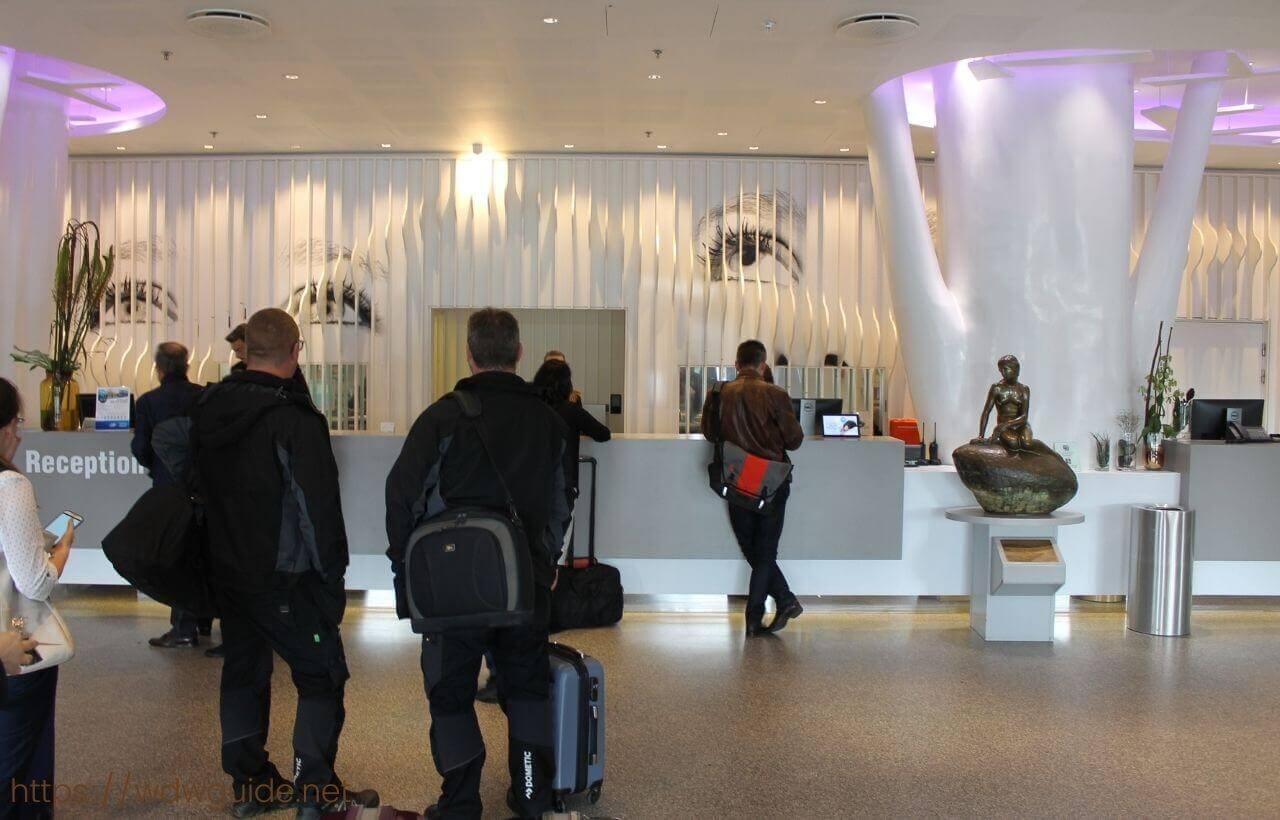 スカンディック コペンハーゲンのフロント