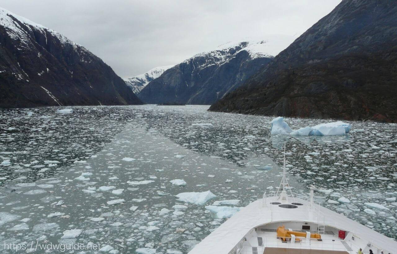 クルーズ船から見たアラスカ
