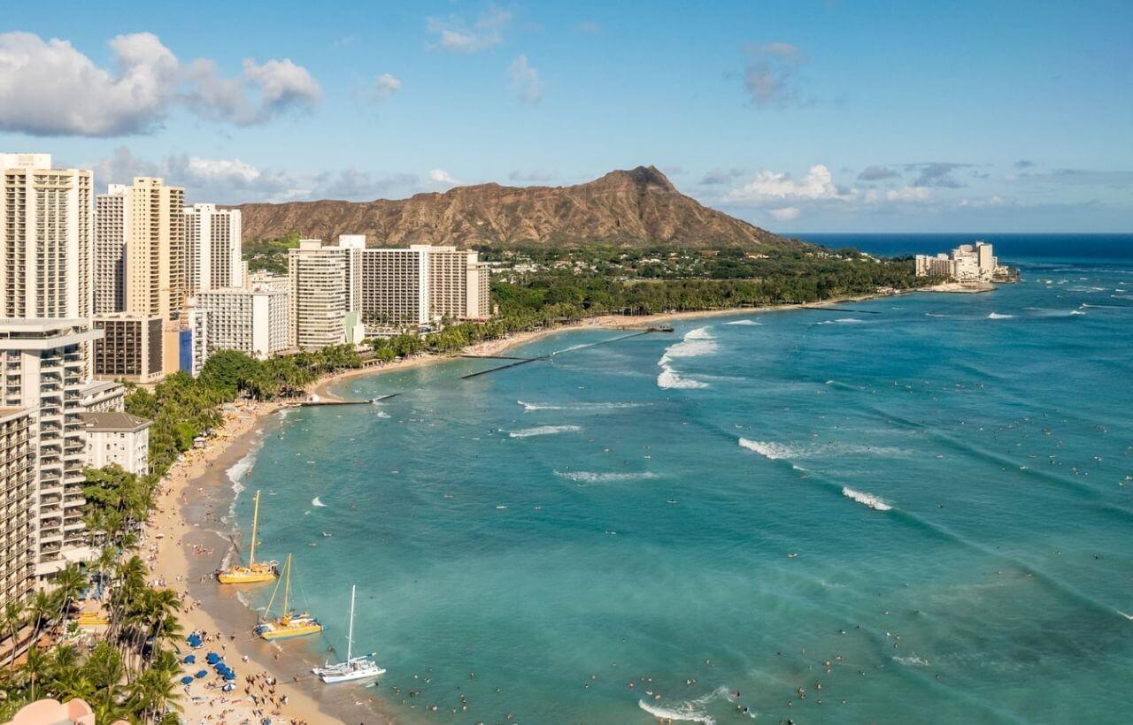 ハワイのオアフ島
