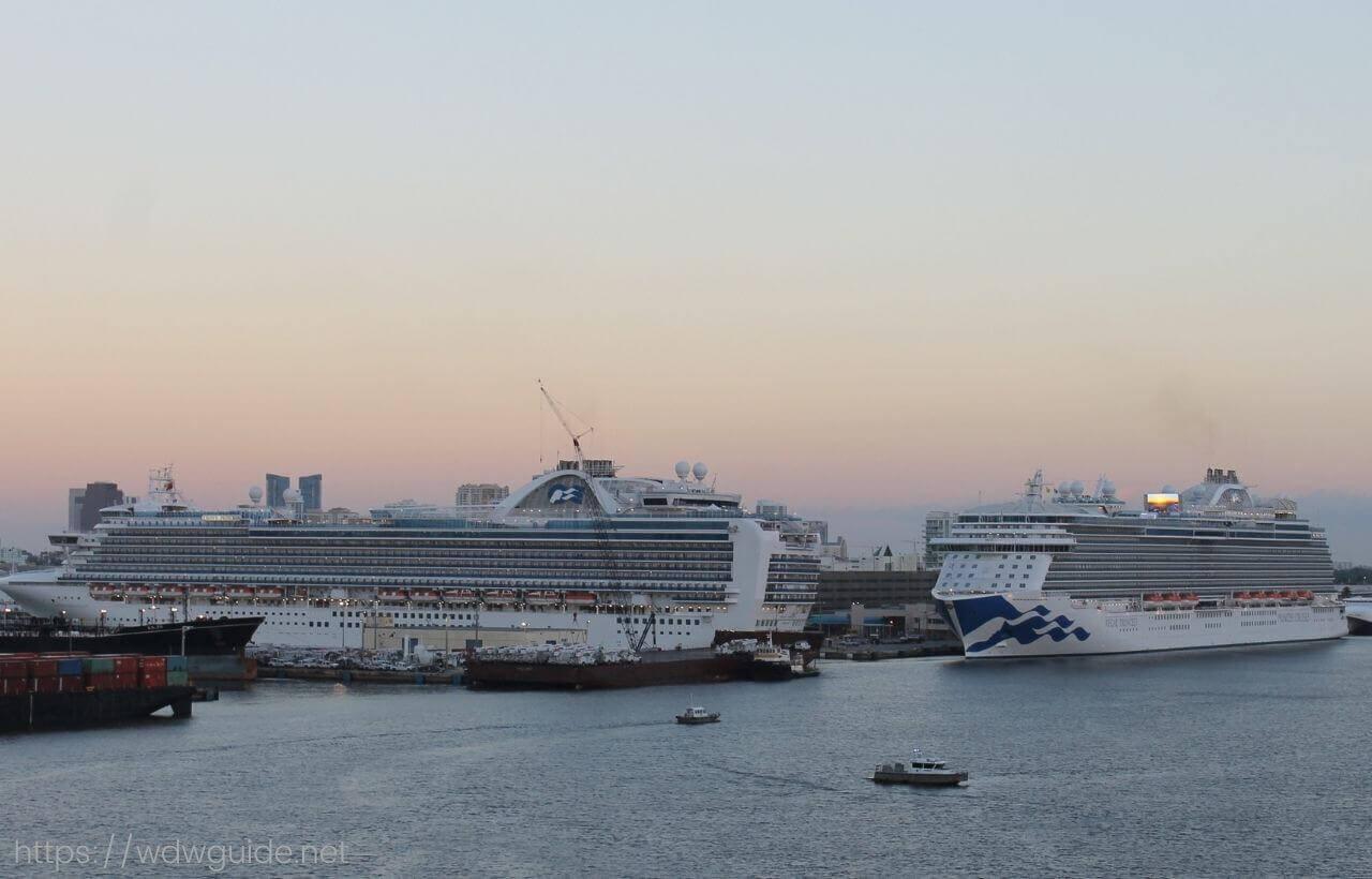 フォートローダーデール港クルーズターミナルポートエバーグレーズに停泊する船