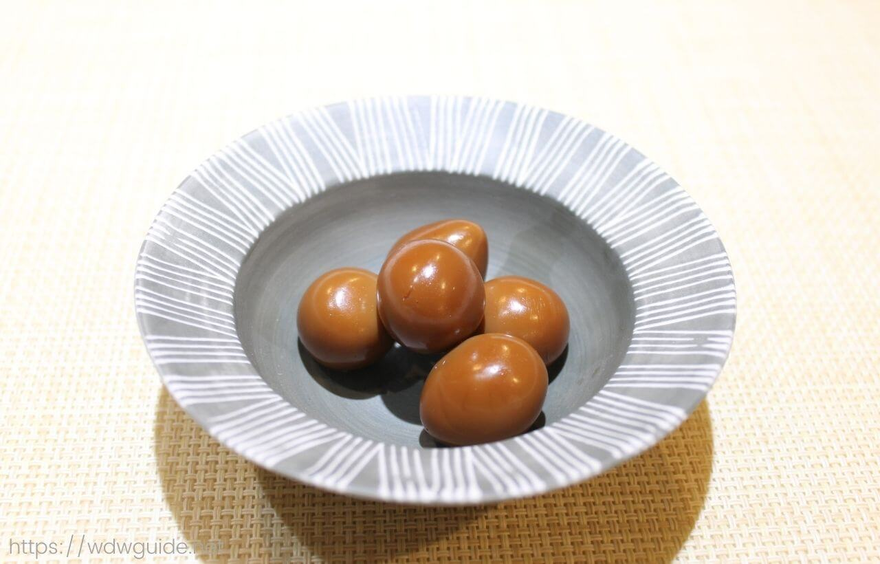 ワールドフレーバーのうずらの卵の煮付け