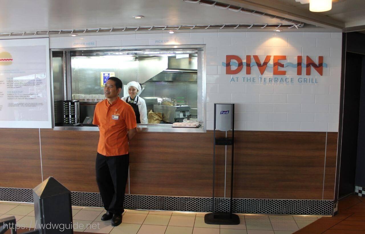 ダイブイン(Dive-In)のカウンター