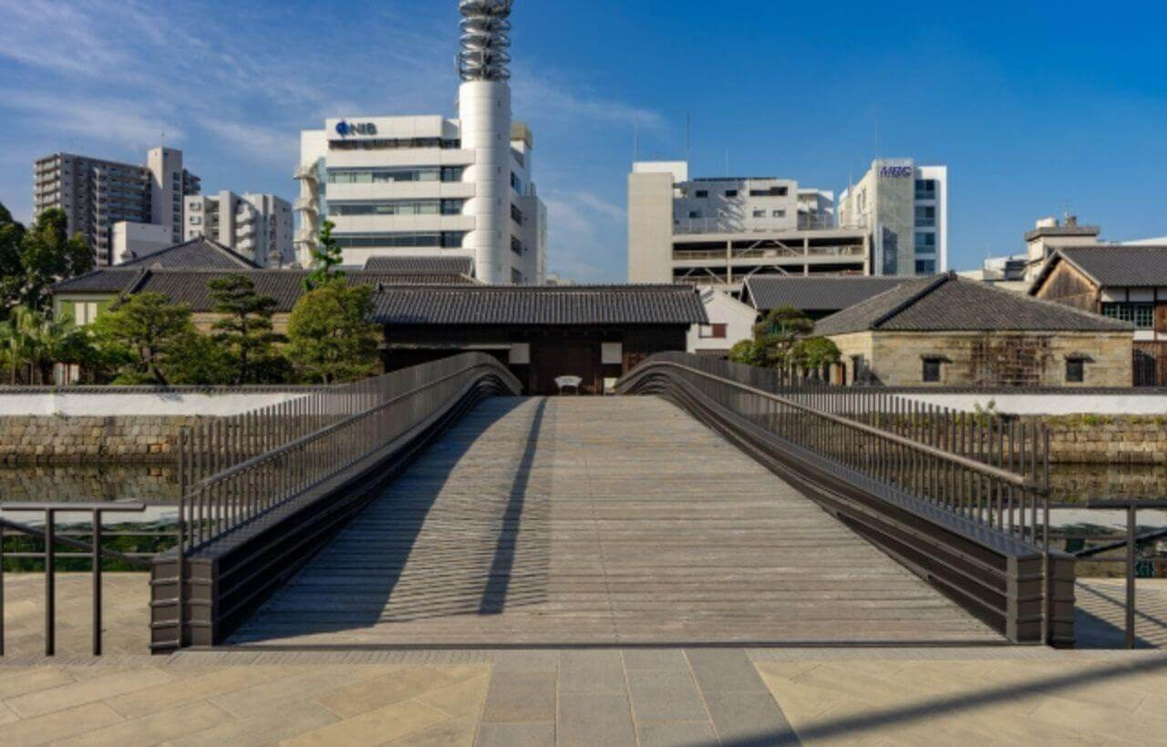 長崎出島の表門橋