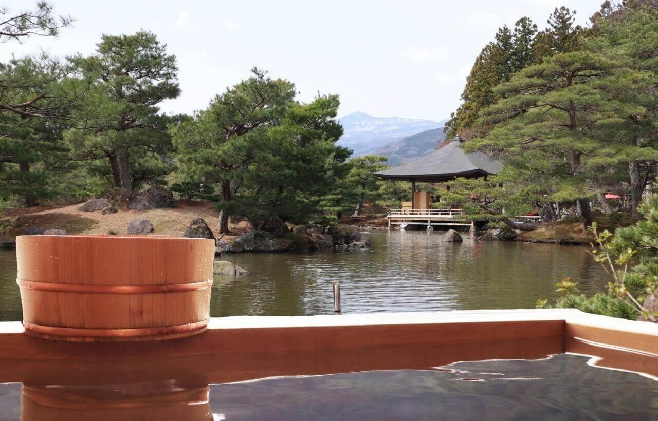 温泉から見た風景