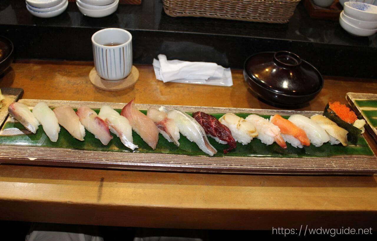 長崎魚たつの限定10食のお寿司15貫セット