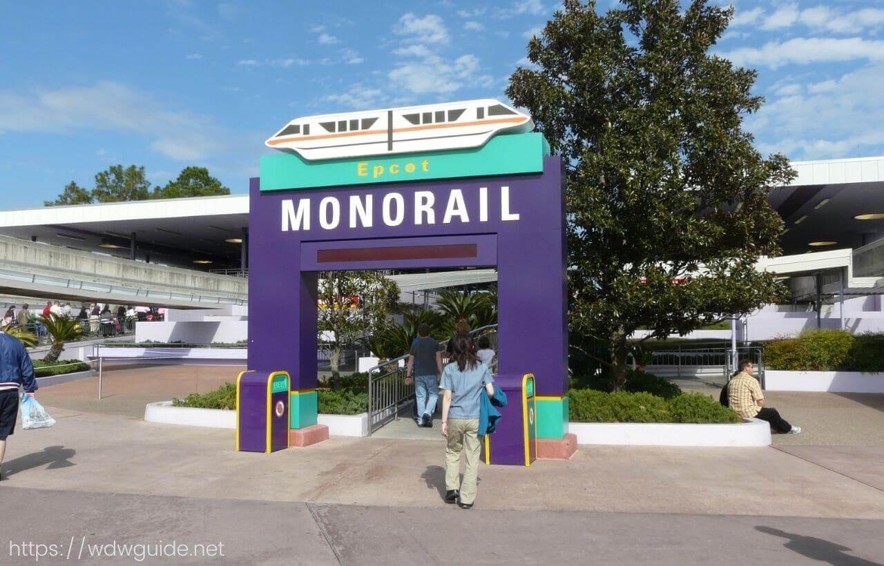 ウォルトディズニーワールドのモノレール乗り場