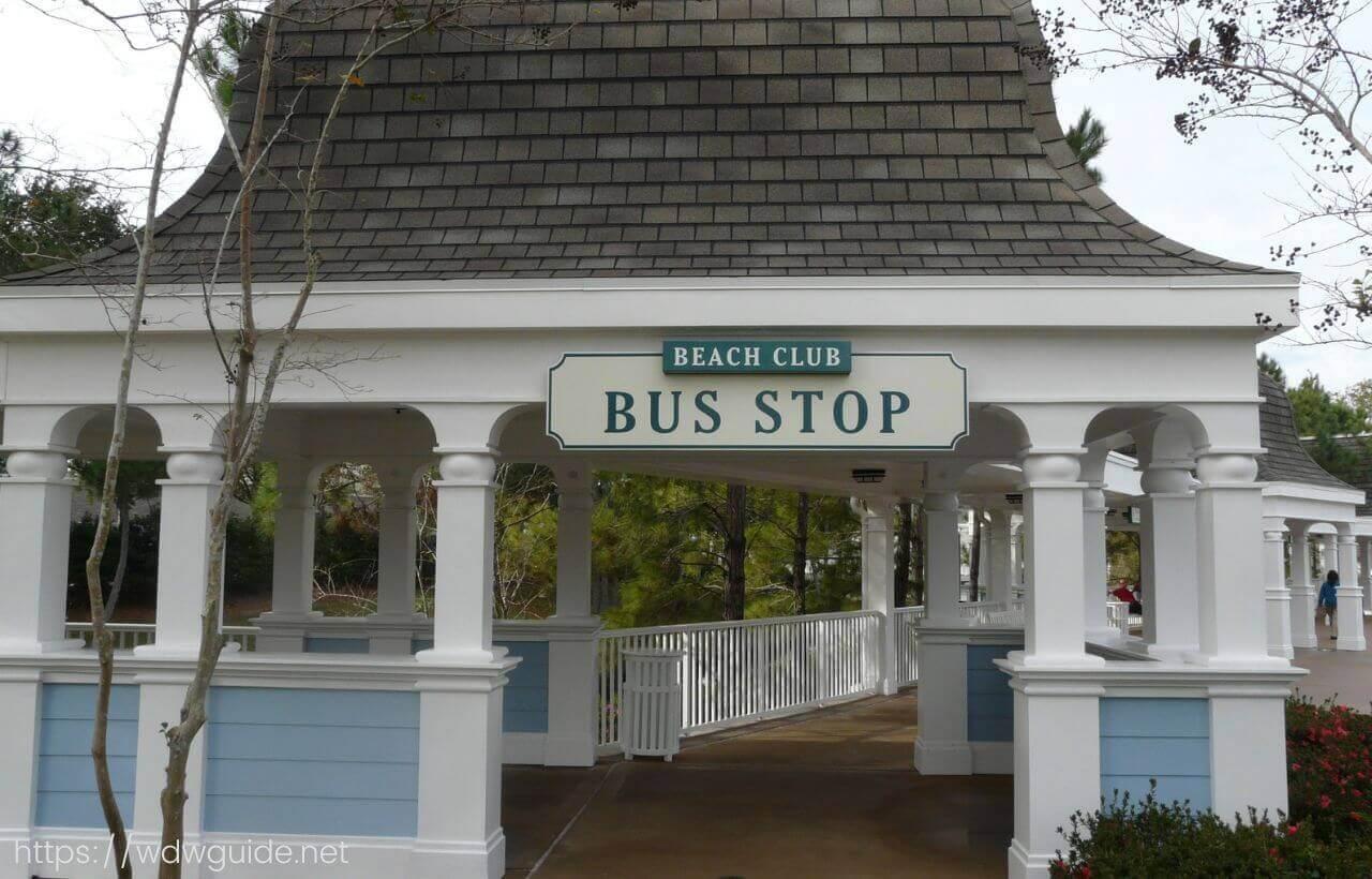 ウォルトディズニーワールドのリゾートのバス乗り場